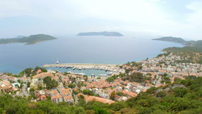 Kas, Turkey, turkish mainland and Meis Island, Greece stock footage