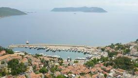 Kas, Turkey, turkish mainland and Meis Island, Greece stock video footage