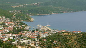 Kas, Turkije, Turks vasteland en Meis Eiland, Griekenland stock footage
