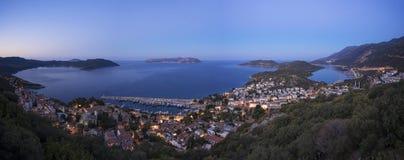 Kasa, Turcja i Kastellorizo, Grecja obrazy royalty free
