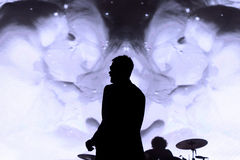 Kasabian (rock band) performance at FIB Festival Royalty Free Stock Photo