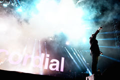 Kasabian (rock band) performs at FIB Festival Stock Photos