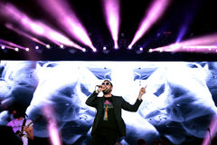 Kasabian (rock band) performs at FIB Festival Stock Images