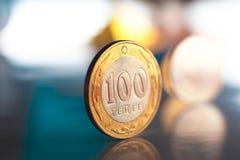 Kasachisches geld- Tenge Stockbild