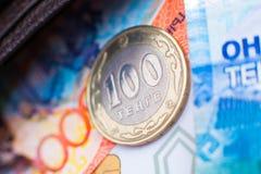 Kasachisches geld- Tenge lizenzfreie stockfotografie