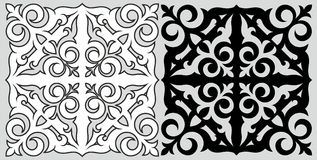 Kasachisches Muster Lizenzfreies Stockbild