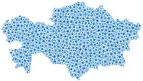 Kasachstan-Karte lizenzfreie abbildung