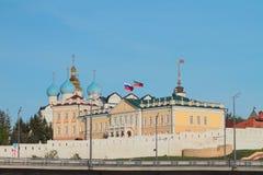 Kasan der Kreml, Nordfall vom Gewehryard Lizenzfreie Stockfotografie
