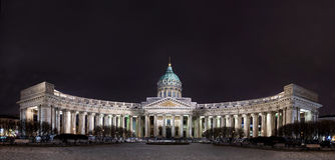 Kasan-Kathedrale im Heiligen-Ptersburg, Russland nachts Stockfoto