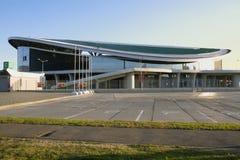 KASAN, RUSSLAND - 27. AUGUST 2016: Trägt komplexe Kasan-Arena, Kaz zur Schau Stockfoto