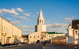 Kasan, Tatarstan, Russland - 16. August 2016 Spasskaya Tower Lizenzfreies Stockbild