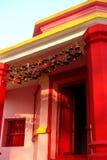 Kasar Devi寺庙入口阿尔莫拉,印度 免版税库存照片