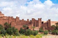 Kasbah Ait本Haddou在摩洛哥 免版税库存图片