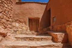 Kasbah Ait Ben Haddou στα βουνά ατλάντων του Μαρόκου Παγκόσμια κληρονομιά της ΟΥΝΕΣΚΟ στοκ φωτογραφία με δικαίωμα ελεύθερης χρήσης