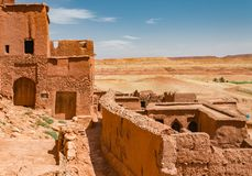 Kasbah Ait Ben Haddou στα βουνά ατλάντων του Μαρόκου Παγκόσμια κληρονομιά της ΟΥΝΕΣΚΟ στοκ εικόνα