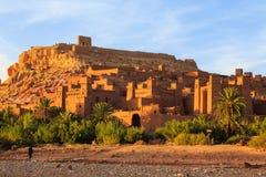 Kasbah Ait Ben Haddou στα βουνά ατλάντων του Μαρόκου Στοκ Εικόνα