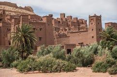 Kasbah Ait Ben Haddou στα βουνά ατλάντων του Μαρόκου Medieva Στοκ Εικόνες