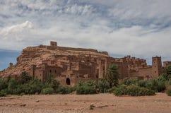 Kasbah Ait Ben Haddou στα βουνά ατλάντων του Μαρόκου Medieva Στοκ φωτογραφία με δικαίωμα ελεύθερης χρήσης
