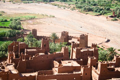 The Kasbah Ait ben haddou. In Morocco stock photography