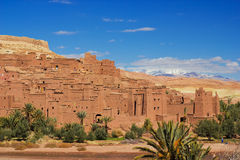 Kasbah Ait ben Haddou. Amazing view of Kasbah Ait ben Haddou in Morocco stock photo