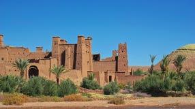Kasbah Ait ben Haddou. Amazing view of Kasbah Ait ben Haddou in Morocco Stock Image
