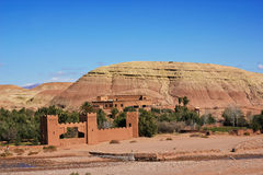 Kasbah Ait ben Haddou. Amazing view of Kasbah Ait ben Haddou in Morocco stock photography