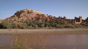 Kasbah Ait Ben Haddou in the Atlas Mountains,. Morocco stock video