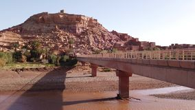 Kasbah Ait Ben Haddou in the Atlas Mountains, Morocco,. 4 stock video footage