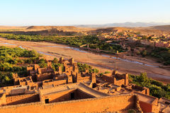 Kasbah Ait Ben Haddou in the Atlas mountains of Morocco. Kasbah Ait Ben Haddou in the Moroccan Atlas mountains Stock Images
