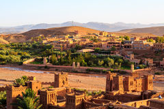 Kasbah Ait Ben Haddou in the Atlas mountains of Morocco. Kasbah Ait Ben Haddou in the Moroccan Atlas mountains Royalty Free Stock Photography