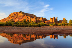 Kasbah Ait Ben Haddou in the Atlas mountains of Morocco at sunse Stock Image