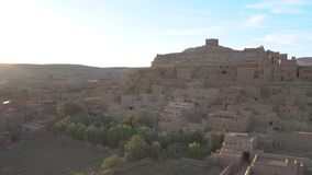 Kasbah Ait Ben Haddou in the Atlas Mountains, Morocco, timelapse. 4k UHD stock video footage