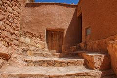 Kasbah Ait Ben Haddou in the Atlas Mountains of Morocco. UNESCO World Heritage. Kasbah Ait Ben Haddou in the Atlas Mountains of Morocco. UNESCO World Heritage royalty free stock photography
