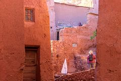 Kasbah Ait Ben Haddou in the Atlas Mountains of Morocco royalty free stock image