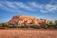Kasbah Ait Ben Haddou in de Atlasbergen van Marokko Unesco-Werelderfenis stock afbeeldingen