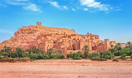 Kasbah Ait Ben Haddou in den Atlas-Bergen von Marokko UNESCO-Welterbe lizenzfreies stockbild