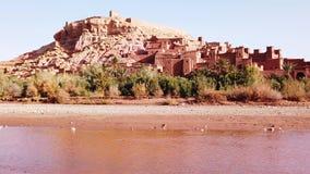 Kasbah Ait Ben Haddou en las montañas de atlas, Marruecos, almacen de video