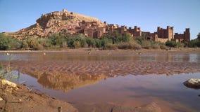 Kasbah Ait Ben Haddou en las montañas de atlas, almacen de video