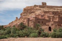 Kasbah Ait Ben Haddou i kartbokbergen av Marocko Medieva Arkivfoto