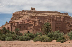 Kasbah Ait Ben Haddou i kartbokbergen av Marocko Medieva Royaltyfri Foto