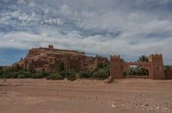 Kasbah Ait Ben Haddou i kartbokbergen av Marocko Medieva Royaltyfri Fotografi