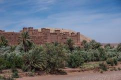 Kasbah Ait Ben Haddou i kartbokbergen av Marocko Medieva Arkivbild
