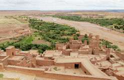Kasbah Ait-Ben-Haddou, Marocko Royaltyfri Fotografi