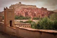 Kasbah ait ben haddou morocco Royaltyfri Bild