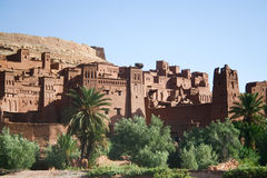 Kasbah Ait ben haddou in Morocco. The Kasbah Ait ben haddou in Morocco royalty free stock photos