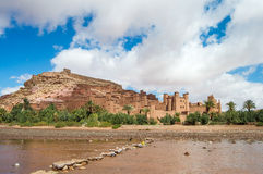 The Kasbah Ait Ben Haddou in Morocco. The Berber village Kasbah Ait Ben Haddou in Ouarzazate, Morocco Royalty Free Stock Images