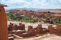 The Kasbah Ait Ben Haddou in Morocco. The Berber village Kasbah Ait Ben Haddou in Ouarzazate, Morocco Stock Photos