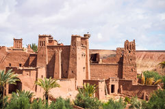 The Kasbah Ait Ben Haddou in Morocco. The Berber village Kasbah Ait Ben Haddou in Ouarzazate, Morocco Stock Photo
