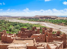 The Kasbah Ait Ben Haddou in Morocco. The Berber village Kasbah Ait Ben Haddou in Ouarzazate, Morocco Royalty Free Stock Photos