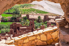 The Kasbah Ait Ben Haddou in Morocco. Image behind a wall of the Kasbah Ait Ben Haddou in Morocco Royalty Free Stock Image